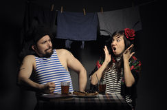 Angry couple. Stock Photo