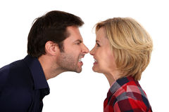 Angry couple Royalty Free Stock Images