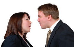 Angry Couple Stock Image