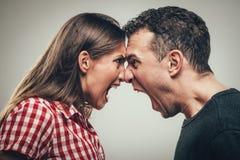 angry couple Στοκ Εικόνες