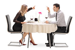 Angry couple arguing with each other Stock Photography
