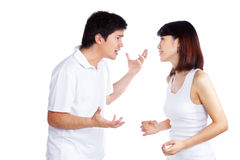 Angry Couple Arguing Stock Photos