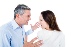 Angry couple arguing Royalty Free Stock Photography