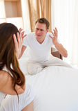 Angry couple having an argument Royalty Free Stock Photos