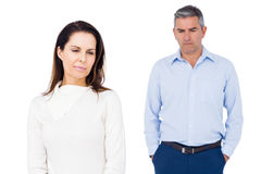 Angry couple ignoring each other Stock Images