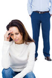 Angry couple ignoring each other Royalty Free Stock Photography