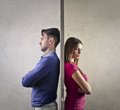 Angry couple Royalty Free Stock Photography