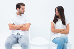 Angry couple not talking after argument Stock Images