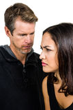 Angry couple not talking after argument Royalty Free Stock Photos