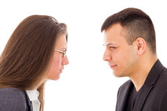 Angry couple not trusting each other Royalty Free Stock Images