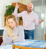 Angry couple during quarrel Royalty Free Stock Photo