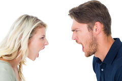 Angry couple shouting during argument Royalty Free Stock Photo