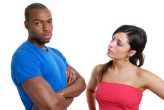 Angry couple staring Royalty Free Stock Photos