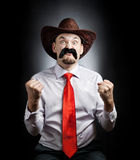 Angry Cowboy Royalty Free Stock Image