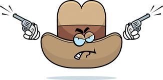 Angry Cowboy Hat Stock Photo