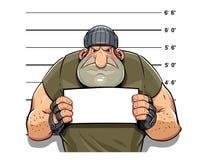 Angry criminal man Stock Image