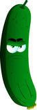 Angry cucumber or pickle Royalty Free Stock Images
