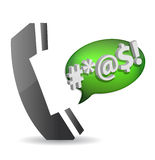 Angry - cursing on the phone concept. Illustration design Royalty Free Stock Photos