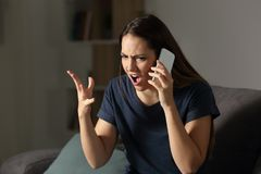 Free Angry Customer Claiming On The Phone Stock Photos - 117597463