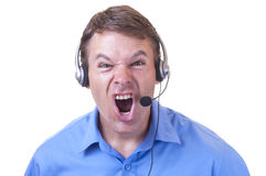 Angry customer service rep Stock Images