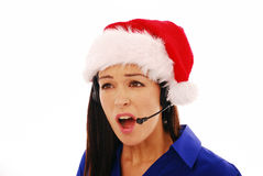 Angry customer service worker Royalty Free Stock Photography