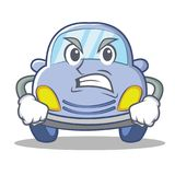 Angry cute car character cartoon Stock Photo