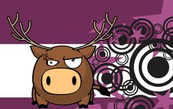 Angry deer ball frame cartoon background Stock Images
