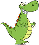 Angry dinosaur cartoon character Royalty Free Stock Images