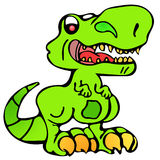 Angry dinosaur kid Royalty Free Stock Images