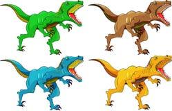 Angry dinosaur raptor Royalty Free Stock Image
