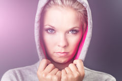 Angry and displeased woman Royalty Free Stock Images