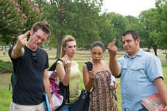 Angry Diverse Group of College Students Royalty Free Stock Photography