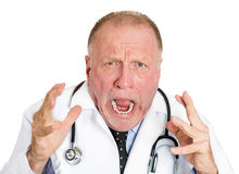 Angry doctor Royalty Free Stock Image
