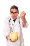 Angry doctor Royalty Free Stock Photo