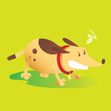 Angry Dog. Illustration Of A Angry Dog Stock Photography