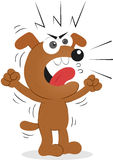 Angry Dog. Cartoon funny dog angry and shouting Royalty Free Stock Image