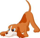 Angry dog cartoon Stock Image