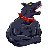Angry dog mascot. Cartoon. illustration Royalty Free Stock Photos