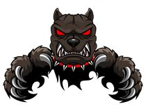 Angry dog mascot cartoon. Illustration Royalty Free Stock Image