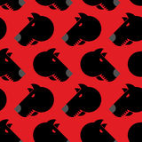 Angry dog seamless pattern. Background of aggressive animal with Royalty Free Stock Image