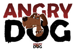 Angry dog sign. Isolated on white Stock Images