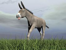 Angry donkey - 3D render Stock Photos