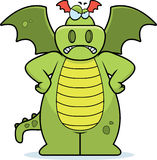 Angry Dragon. A cartoon dragon with an angry expression Royalty Free Stock Photography