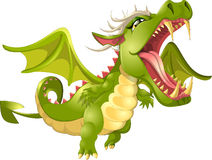 Angry dragon cartoon Stock Photo