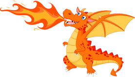 Free Angry Dragon With Fire Stock Photos - 58783323