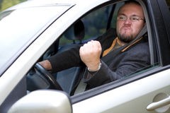 Angry driver Royalty Free Stock Image