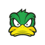 Angry duck mascot. Clipart picture of a angry duck cartoon mascot logo character vector illustration