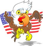 Angry Eagle. This is an image of an Angry American Eagle coming in for a landing.  It is a symbol of our pride and strength.  The image was complete in multiply Royalty Free Stock Photos