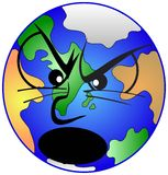 Angry earth. The hot earth is very angry. This file is also available as Illustrator-file Royalty Free Stock Photos