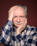 Angry elderly man Royalty Free Stock Images
